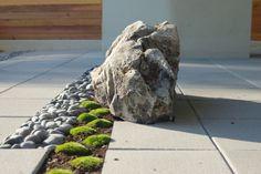 Deko Ideen Steine Moos Flusssteine Basalt