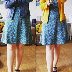 """Kombi Wickelkleid aus dem Buch """"Näh dir dein Kleid"""" mit dem Jäckchen aus dem Buch """"Ein Schnitt-vier Styles"""" beide von @rosa_und_das_einfache_leben #rosap #kleiderliebe #nähen #rums #nähenistwiezaubernkönnen #lillestoff"""