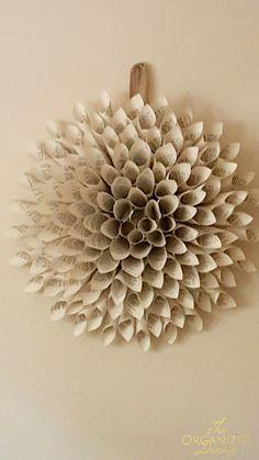 DIY Dahlia Wreath Tutorial from The Organized Dream