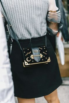 bcc275a757cf lovelyariannax Prada Clutch, Prada Dress, Prada Bag Crossbody, Mini  Crossbody Bag, Black