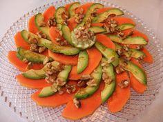 La cocina de Lola: Ensalada de papaya, aguacate y nueces