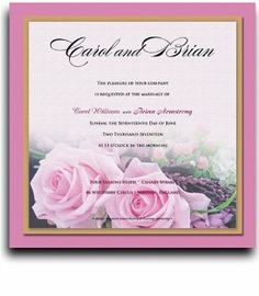 275 Square Wedding Invitations - Baby Pink Roses on Pink by WeddingPaperMasters.com. $687.50. Now you can have it all! We have created, at incredible prices & outstanding quality, more than 300 gorgeous collections consisting of over 6000 beautiful pieces that are perfectly coordinated together to capture your vision without compromise. No more mixing and matching or having to compromise your look. We can provide you with one piece or an entire collection in a one...