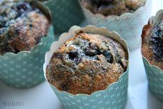 Blåbærmuffins med banan og blå birkes | Månebarnet