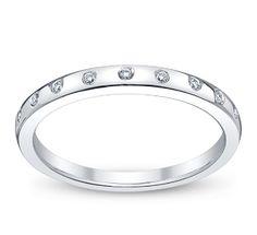 Ladies 14K White Gold Diamond Anniversary Ring - Round Diamonds $395