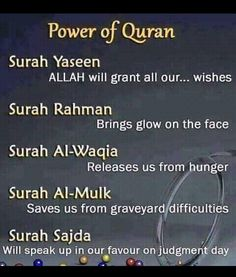 Should recite Quran everyday. The power of our soul.