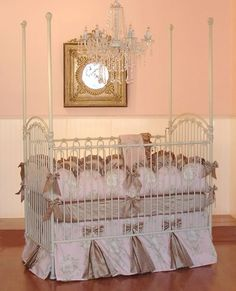 Angelique Crib Linens by Little Bunny Blue, Crib Bedding Sets, Bedding for Girls