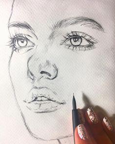 Sanat Çizimleri Sanat çizimleri woman flogged for wearing trousers - Woman Trousers Pencil Art Drawings, Realistic Drawings, Art Drawings Sketches, Sketch Art, Portrait Sketches, Pencil Sketching, Face Sketch, Anime Sketch, Art Illustrations