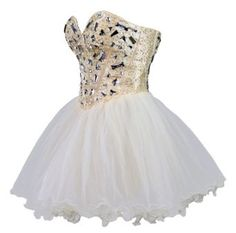 Amazon.com: Faironly Zxs1 Mini Short Crystal Prom Cocktail Dress: Clothing