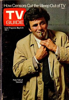 Peter Falk is Columbo on the cover of TV Guide (May 5, 1973)