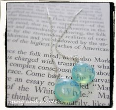 Glowing Opalite on Sterling Silver ear threads by twigandclover, $10.50