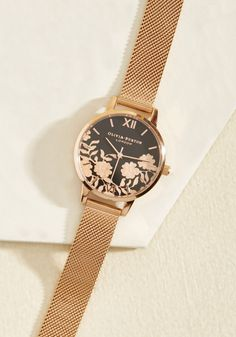 Gild With Love Watch in Rose Gold, #ModCloth