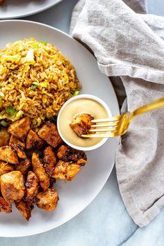 Perfect Hibachi Chicken {Benihana Copycat} - The Girl on Bloor Hibatchi Recipes, Diner Recipes, Restaurant Recipes, Grilling Recipes, Healthy Recipes, Copycat Recipes, Cooking Recipes, Sauteed Vegetables, Chicken And Vegetables
