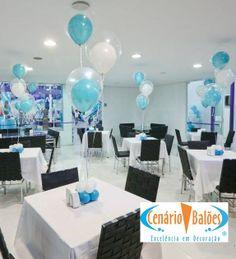 #FrozenPartyTheme #CenterPiece #Balloons
