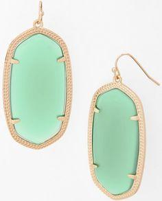 Kendra Scott mint drop earrings
