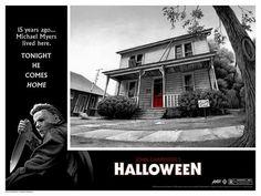 Michael Myers Halloween Jason Edmiston Print Poster Mondo Eyes Without A Face Halloween Film, Halloween Series, Halloween Poster, Halloween Prints, Halloween Horror, Horror Posters, Horror Films, Horror Art, Movie Posters