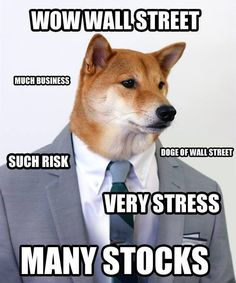 wow doge pick such risk wow stock Dog Jokes, Funny Dog Memes, Really Funny Memes, Stupid Memes, Funny Dogs, Funny Stuff, Memes Humor, Animal Magic, Life Memes