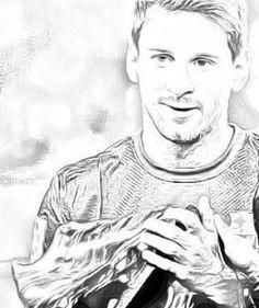 Worksheet. Lionel Messi w wersji rysunkowej portret messi lionelmessi