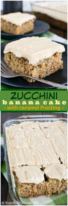 Zucchini Banana Cake - this cake is seriously such a popular way-way to use up the extra veggies from the garden! Awesome dessert recipe!