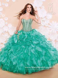 Mary's Jade Quinceanera Dresses 2015 New Sweetheart Sequins Ruffled Organza Ball Gown Prom Gowns with Bolero And Lace Up Back from Nicedressonline,$283.93 | DHgate.com
