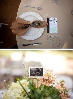 Table names on little chalkboards, cute! Grass Valley California, Trinity Alps, Table Names, Chalkboards, California Wedding, Container, Paper, Chalkboard, Canisters