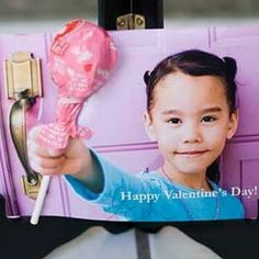 Valentine card w/ lollipop