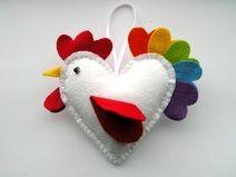Filz Herz Vogel, Ostern Anhänger
