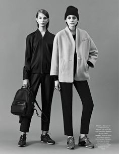 visual optimism; fashion editorials, shows, campaigns & more!: tomboy touch: serena archetti and sarah harper by julia skinfield for be november 2014