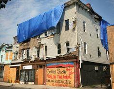 East Main Street, Bridgeport CT tornado damage 6/24/10