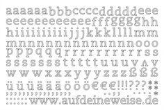 """Alphabet Sticker """"Eva"""" – weiß; Bogen 2 (a-z)"""