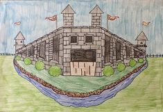 art inklings: How To Draw 2 Point Perspective Castles - Cycle 2