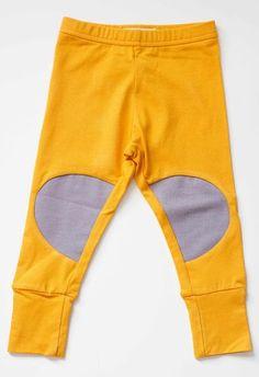 Papu - Nappikaupunki-legginssit, keltaiset | Pikkuotus -Children´s clothing