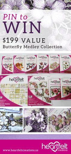 Follow us and repin. WIN IT BEFORE YOU CAN BUY IT !!! The complete February Butterfly Medley collection is going to 2 randomly chosen winners. Which includes a Paper Pad, card kit, 6 stamp sets and 2 dies.. Contest closes on Monday Feb. 9th at 4 P.M. Eastern Standard Time (US) Good luck to each one of our followers !