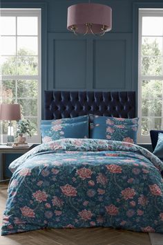 NEW: Introducing Tapestry Floral. Bold and beautiful with archival roots, the new Tapestry Floral print represents a traditional hand-woven floral tapestry. The timelessly elegant Tapestry Floral print features traditional hand painted blooms in a sophisticated palette of blush pinks and rich greens on a beautifully soft dusky seaspray ground. This beautiful bed linen is 100% cotton for a luxuriously comfortable night sleep.