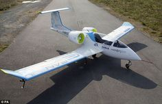 World's first plug-in plane takes off: Bright sparks at Airbus unveil electric two-seater aircraft at the Paris Air Show that's nearly silent in flight [Electric Airplanes: http://futuristicnews.com/tag/electric-airplane/ The Future of Aviation: http://futuristicnews.com/tag/aircraft/]