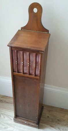Vintage French wooden baguette box, kitchen