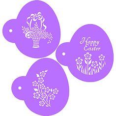 Easter Basket Eggs Cookie Stencils