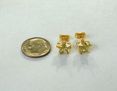 Yellow Gold Plated Earrings Womens Girls Yellow Citrine Gemstone Star Stud 9k #Unbranded #Starstudearrings
