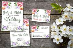 Dreams Do Come True,  Wedding Printable Suite, RSVP, Thank You, Wedding Invite, Floral Swirls Wedding Printable, Printable Invitations, Wedding Invitations, Printables, Dreams Do Come True, Wedding Thank You, Wedding Suits, Swirls, Rsvp
