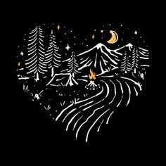 Illustration Vector, Travel Illustration, Nature Illustration, Vector Art, Sky Logo, Landscape Concept, Sky Landscape, Line Art, Screen Printing