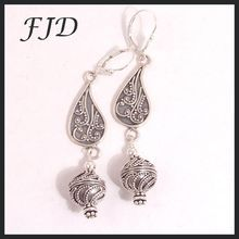 Bali Silver and Sterling Silver Earrings