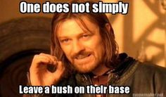 Clash of clans - One does not simply Leave a bush on their base