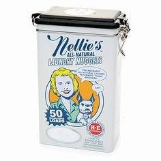 Buy Nellie's All Natural Laundry Nuggets in a Tin, 50 Loads & More | drugstore.com
