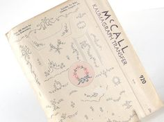 This vintage 1940s Kaumagraph embroidery transfer pattern, McCalls 920, will give your projects a delicate, sweet shabby chic look!