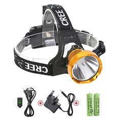 2-in-1 Removable 3*XM-L T6 LED Head Torch Portable Bicycle Light Rechargeable Waterproof 4 Modes Headlight 5000LM Headlamp for Riding Night Fishing Hiking Camping Running Cycling Climbing Walking