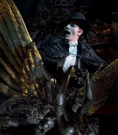 April 2012 London cast Photos - Peter Jöback as The Phantom. Photo - Michael Le Poer Trench.
