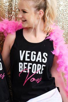 Vegas Bride Wedding Las Groom Married Party Happens Stays Funny Girls Tank Top