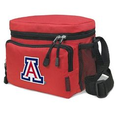 University of Arizona Lunch Box Cooler Bag Insulated Red Arizona Wildcats - Top Quality Unique Lunchbox or Red Cushioned Travel Bag OFFICIAL NCAA MERCHANDISE by Broad Bay. $19.99. Our tough deluxe University of Arizona lunch box cooler bag is just the right size for lunch or travel. This well-insulated official college logo bag contains a roomy main compartment and a zippered front pocket. Top quality construction with additional convenience features such as a double-zipp...