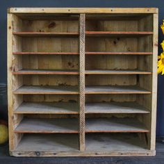 Vintage Table Talk Wood Crate now featured on Fab. Old shelf.