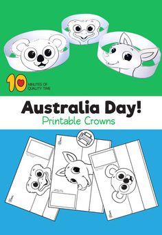 Australia Crafts For Kids Australia For Kids, Australia Crafts, Australia Animals, Australia Day Craft Preschool, Queensland Australia, Animal Activities, Toddler Activities, World Girls Day, Koala Craft