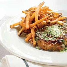 Steak Frites :: America's Test Kitchen :: Recipes Steak And Frites Recipe, Steak Frites, Steak Recipes, Easy Recipes, Potato Dishes, Beef Dishes, Americas Test Kitchen, Kitchen Recipes, Entrees
